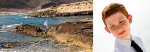 Fotografía en cabo de Gata Almería para reportaje de comunión