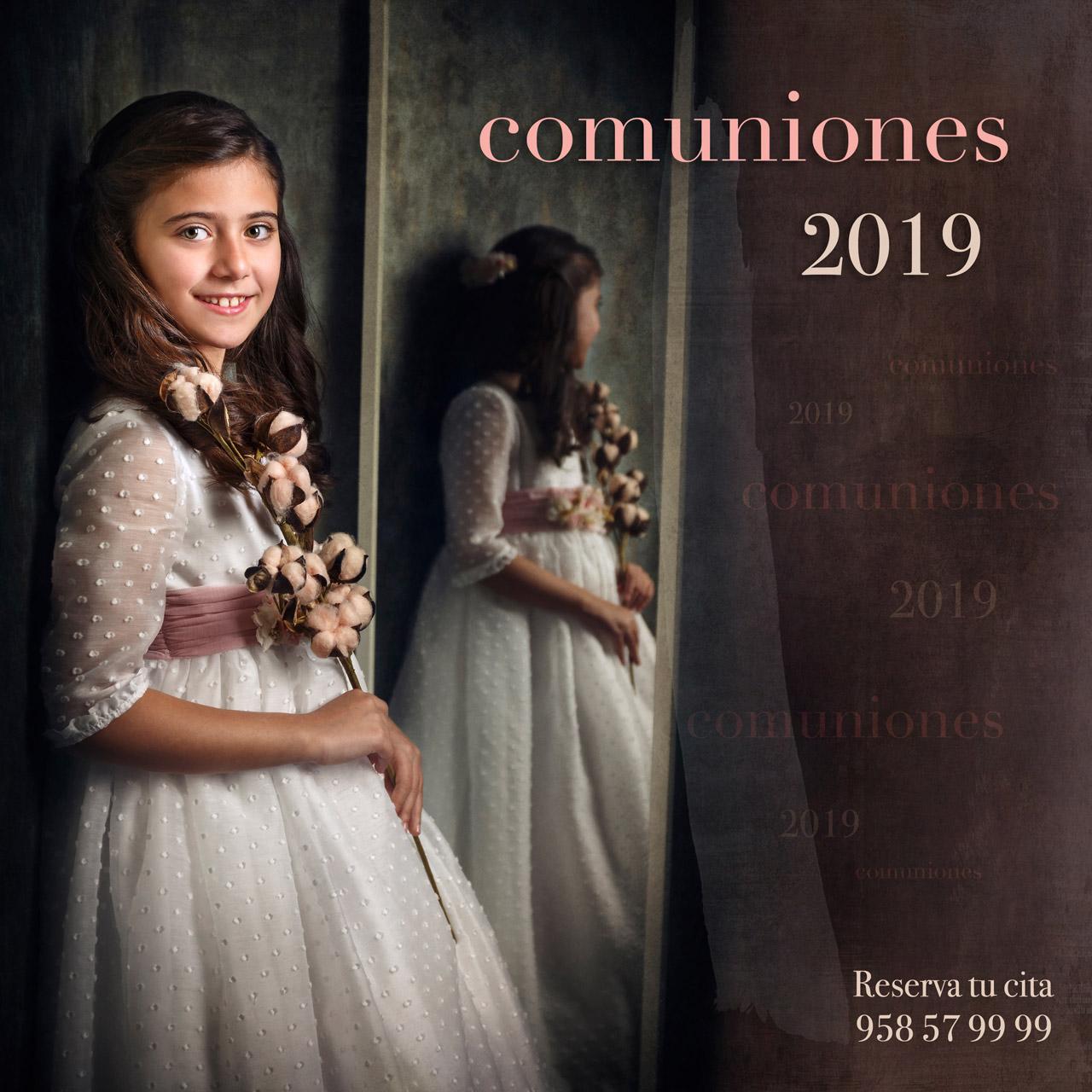 Campaña de comuniones 2019. Estudio de fotografía en Granada. Carlos Funes. El mejor fotógrafo de Comunión.