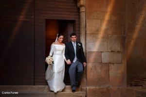 Felices Ismael y Esther recién casados en Granada. Carlos Funes Fotografía