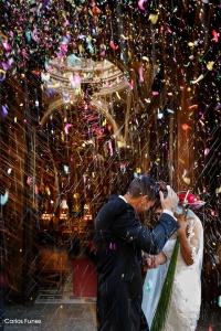Salida de la Iglesia de la boda de Jessica y Carlos