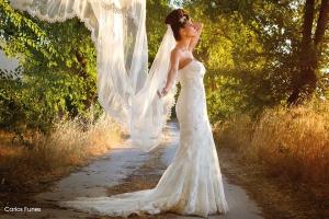El velo de novia. Fotografía de la boda Carlos Funes