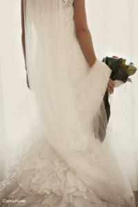 Pilar nos muestra su precioso vestido de novia