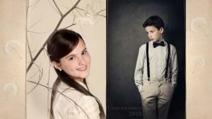 posado de niños y niñas vestidos de primera comunión
