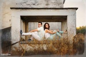 Sesión de preboda de Marta y Victor en una preciosa arboleda de Granada