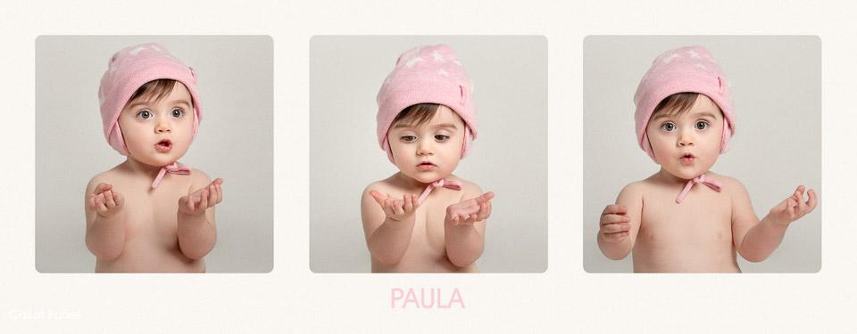 Álbum infantil fotográfico de Paula. Fotógrafo de niños Granada. Carlos Funes
