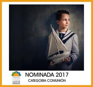 Foto nominada a la mejor fotografía de comunión de 2017 en los premios internacionales de la Luces de Granada
