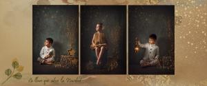 Campaña de mini sesiones de fotos de Navidad. Postal navideña infantil. Estudio Carlos Funes Granada. ©2019